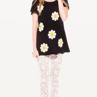 CONTEMPO HIPPY CREWNECK at Wildfox Couture in  STRAWBERRY ICE, - CLEAN BLACK