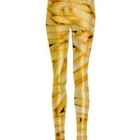Ladies Shiny French Fries All Over Print Leggings From Mr Gugu &amp; Miss Go : TruffleShuffle.com