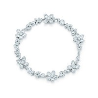 Tiffany & Co. -  Tiffany Garden flower bracelet in platinum with diamonds.