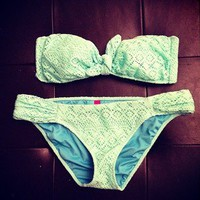 Victoria's Secret Light Blue Lace Bikini