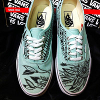 Dreamcatcher- Gossamer Green VANS -Made to Order