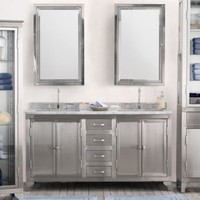 1930s Laboratory Stainless Steel Double Vanity Sink |  | Restoration Hardware