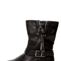 Ardie 3 Black Belted Motorcycle Boots