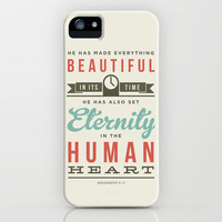He has made everything beautiful iPhone Case by Typographic Verses