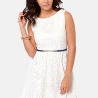 Fun in the Sun Ivory Lace Dress