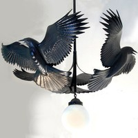 Reverence For Raven Chandelier