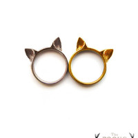 Cat Ears Ring, cute cat ring, kawaii ring, animal fashion ring, neko ears ring, for the sweet girlfriend, for the special cat lover friend