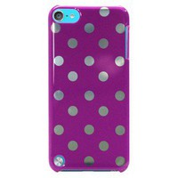 Mobilexpressions Polka Dot iPod Touch (4th Generation) Case - Purple (ME2017)