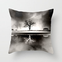 Solitary Reflection Throw Pillow by Ally Coxon | Society6