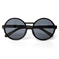Get Into the Groove Black Sunglasses