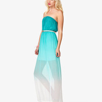 Ombr Maxi Dress w/ Belt | FOREVER 21 - 2036699475