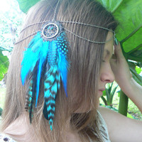 dreamcatcher feather head chain head piece
