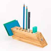 Desk Organizer Office Accessory Wood Pen Pencil Holder Desktop Organizer FELICIA