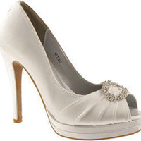 Dyeables Gianna - White Satin - Free Shipping & Return Shipping - Shoebuy.com