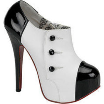 Bordello Teeze 20 - White PU/Black Patent - Free Shipping & Return Shipping - Shoebuy.com