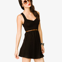 Sweetheart Neckline Dress w/ Belt | FOREVER 21 - 2036456860