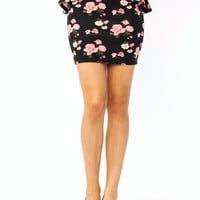 floral-peplum-mini-skirt BLACKPINK WHITEPINK YELLOWPURP - GoJane.com