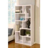 Hokku Designs EL-27090WH Masima Unique Bookcase / Display Cabinet in White: Furniture & Decor