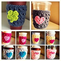 crochet coffee cozies