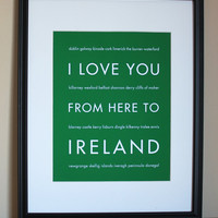 Ireland Art Print, 8x10 | Luulla