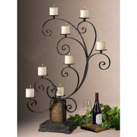 Uttermost Kara Candle Holder - 19395 - Candles & Holders - Decorative Accents - Decor