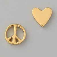 Gorjana Peace & Heart Studs | SHOPBOP