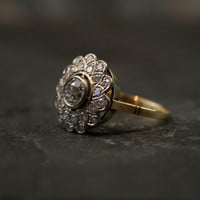 Edwardian Diamond Daisy Cluster Ring by Ruby Gray's | Ruby Gray's Antique & Vintage Rings
