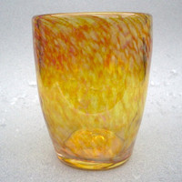 Hand Blown Drinking Glass Stemless Wine  or Beer Glass (GRIG-E)