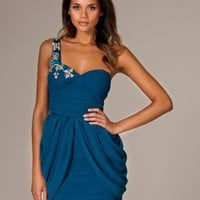 Jewel One Shoulder Dress - Rare Fashion - Blå - Festklänningar - Kläder - NELLY.COM Mode online på nätet