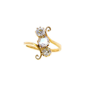 Doyle & Doyle Estate Jewelry | Item: Rose Cut  & Yellow Old Euro Diamond Ring