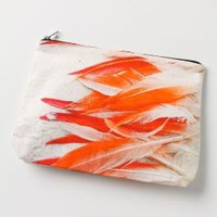 Flamingo Feather Pouch - Anthropologie.com