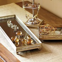 Mirrored Dresser-Top Trays | Pottery Barn
