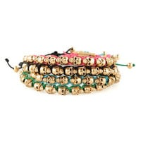 Cool Skull Bracelet - Gold Bracelet - Friendship Bracelet - $11.00