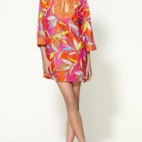 NWT Trina Turk Women&#x27;s Paradisea Tunic Up Dress L $154