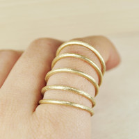 Multiple ring bronzegold coatedfree shipping by nihanatakan