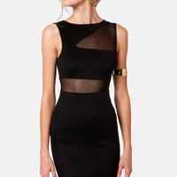 From See to See Cutout Black Dress