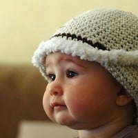 Puffy Snow hat Newborn and 03M by beliz82 on Etsy