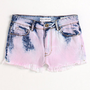 Bullhead High Rise Cloudy Fray Hem Shorts at PacSun.com