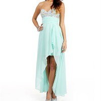Mona-Mint Hi Low Dress