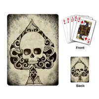 Ace Death Card mini playing cards by ShayneoftheDead on Etsy