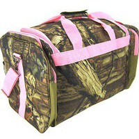 Light Pink /Camo canvas Luggage Bag