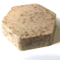 handmade kitchen soap - Goat's milk, coffee and oatmeal with a lemon scent - light brown granite