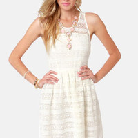 BB Dakota Jacynth Ivory Lace Dress