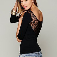 Free People Solid Lace Back Cami