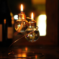 Light Bulb Oil Lamp - Double