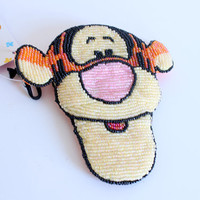 TIGGER DISNEY Beaded Change Coin Purse Small Bag Deadstock