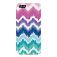 Ombre Ikat Chevron Covers For iPhone 5 from Zazzle.com