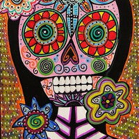 Frida Pink Sugar Skull  SILBERZWEIG by SandraSilberzweigArt