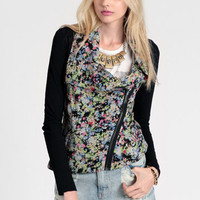 Floral Fantasy Moto Jacket - $33.50 : ThreadSence, Women's Indie & Bohemian Clothing, Dresses, & Accessories