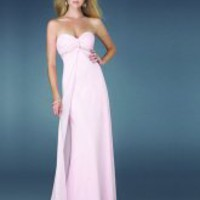 Lingth Pink Beading/Ruffle Sweetheart Floor Length Cloumn Prom Dress-Wedding & Events-Special Occasion Dresses-Prom Dresses- sino-treasure.com